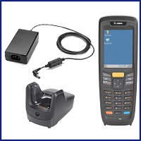 ТСД MC2180 WLAN Imager Kit with standard battery, CE6 CORE, 128 MB RAM, 256 MB ROM, English, handstrap, single slot cradle, USB comm cable, and power supply в комплект