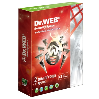 Dr.Web Security Space SILVER на 1ПК/2 года